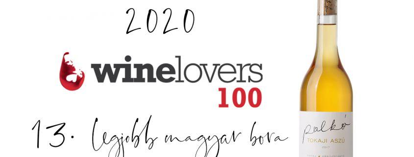 winelovers 100   Palkó Borok Tokaji Aszú